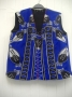 Blue and Black cultural waist coat