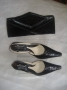 Black croc skin set