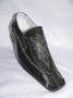 Black Printed Design Genuine Leather